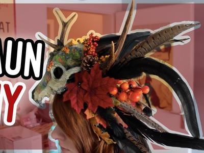 DIY Voodoo Faun Kopfschmuck. Halloween Tutorial I Kupferfuchs Bastelstube