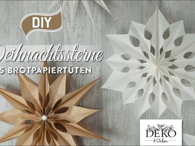 DIY: große Weihnachtssterne aus Brotpapiertüten basteln [How to] Deko Kitchen