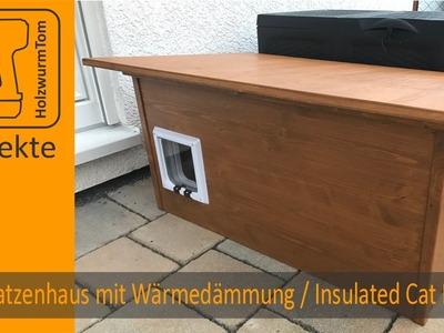 DIY Katzenhaus mit Wärmedämmung. Insulated Cat House (with english subtitle)