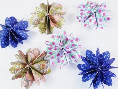 Süße Blumen ganz einfach selber machen | DIY Idee mit Papier | Schöne Deko Idee mit Musterpapier