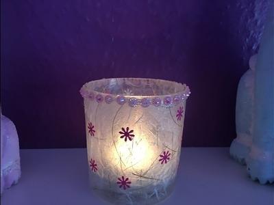Frost Kerzen Glas DIY und Männer die verdursten :)