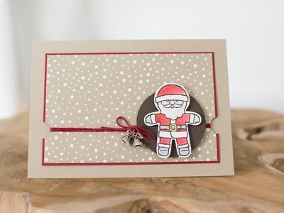 Weihnachtskarte mit Stampin' Up! Ausgestochen Weihnachtlich. Cookie Cutter Christmas