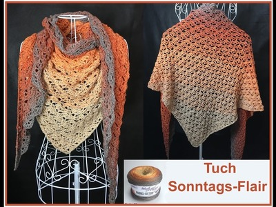 Tuch Sonntags-Flair - Häkeln Woolly Hugs BOBBEL - Veronika Hug