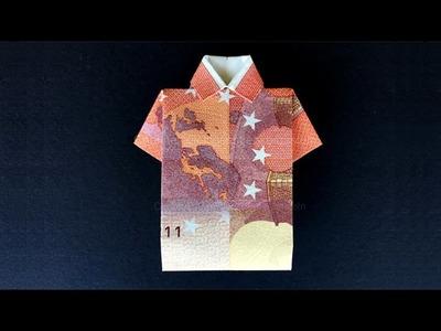 Geldschein falten: Hemd - Geld falten Hochzeit - Einfaches Hemd zum Geldgeschenke basteln