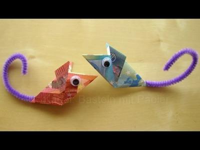 Geldschein falten Maus - Maus mit Geld falten - Geldgeschenke basteln - Hochzeit - Origami