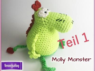 Häkeln Molly Monster aus der Sesamstraße Teil 1 - Veronika Hug