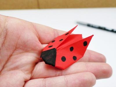 Marien Käfer Origami | Falten für Kinder | Deko & Geschenk