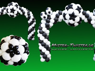 Balloon Football Arch, Soccer Decoration, Ballon Fußball Bogen, Fussball Säule, Dekoration