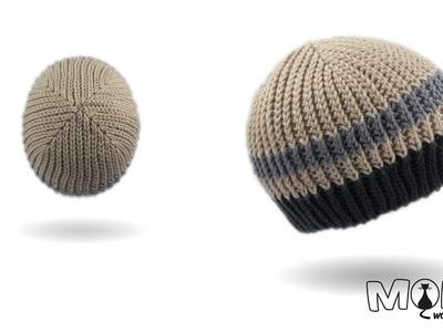 Mütze häkeln - Stripes Beanie - bosnisch häkeln