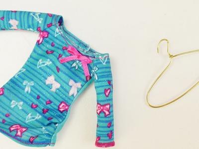 Barbie und Monster High Kleiderbügel basteln | Kleiderhaken für Puppen Outfits selber machen