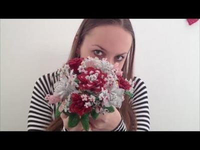 Rose aus Glasperlen. Teil 1.2. Anna's Perlen. Beaded rose. Perlenblumen.
