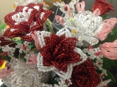Rose aus Glasperlen. Teil 2.2. Anna's Perlen. Beaded rose. Perlenblumen