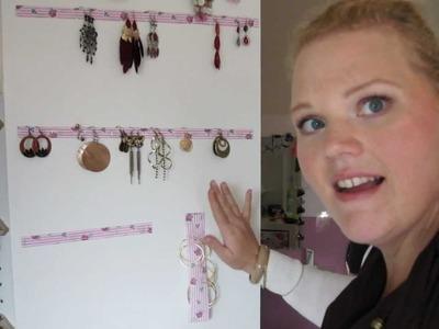 Ohrring Aufbewahrung billig selber machen - DIY - Do it yourself Anleitung
