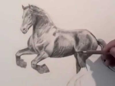 Wie malt man ein Pferd - Zeichnen lernen