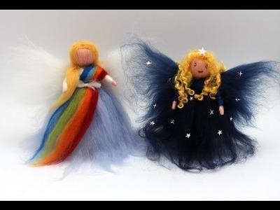 Filzanleitung für Feen, Elfen und Engel aus Filzwolle.Märchenwolle