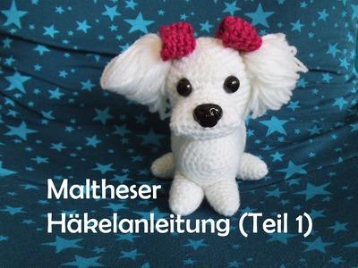 Maltheser Hund - Teil 1 - Amigurumi Häkelanleitung
