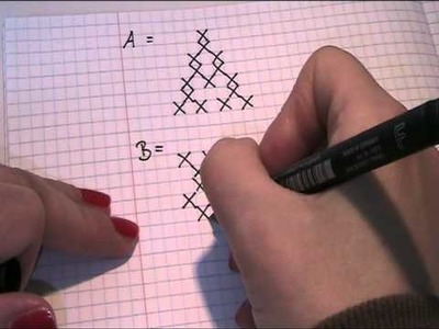 Muster für die Buchstaben sticken Video Teil 1