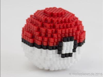 Perler Bead 3D Pokeball