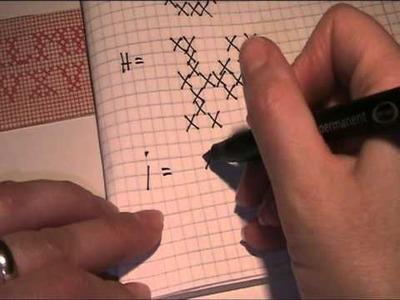 Stickmuster für die Buchstaben Teil 2 Video