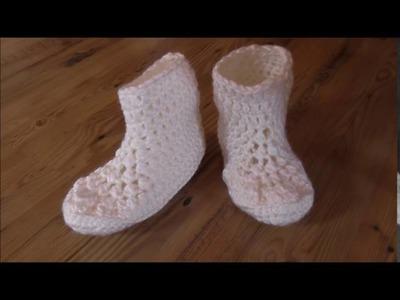 Hausschuhe, dicke Socken gehäkelt