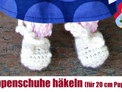 DIY | Puppenschuhe häkeln (für 20 cm Sami Puppen) | Sami Dolls Anleitungen