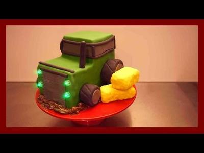 Einfache, Anfängerfreundliche Traktor Torte - Traktor Fondant Torte für Anfänger - Kuchenfee