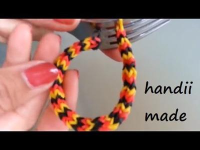 Loom Bands Armband *** Chevron-Zacken. Quadrafish *** Gabel Variante 2 (A