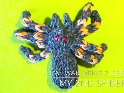 Raibow Loom 3D Spinne. Spider with english subtitles - Lachtäubchen Loom