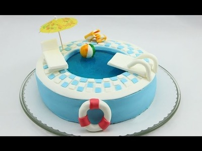 Swimming Pool-Torte. Pool-Torte. Pool Cake. Swimming Pool Cake selber machen
