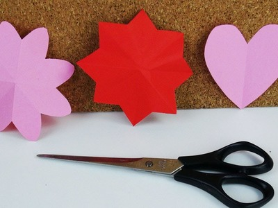 DIY Sterne, Herzen & Blumen ganz einfach schneiden und selber machen | DIY Bastelideen für Kinder