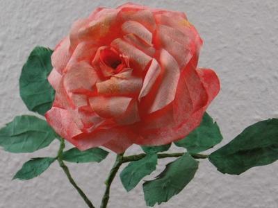Blumen basteln:  Romantische Rosenblüten aus Kaffeefilter basteln ❁ Deko Ideen mit Flora-Shop