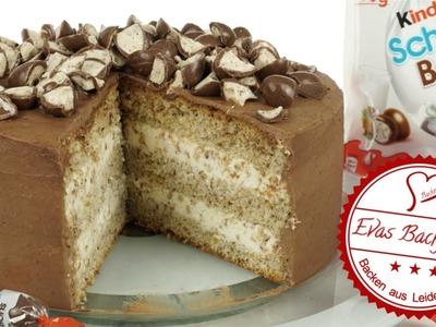 Kinder Schoko-Bons-Torte. Schokobons Torte. Geburtstag. Backen mit Evas Backparty