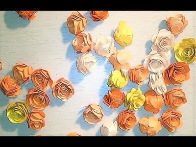 Tutorial Papier Rosen selber basteln | Blumen für Hochzeitsprojekt