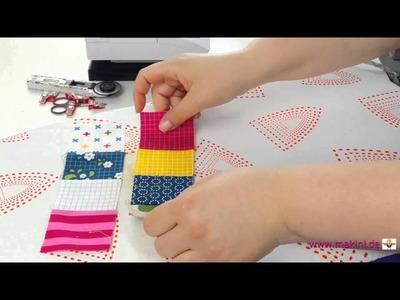 DIY Patchwork Blöcke Ecke auf Ecke nähen (Nestle Seams-Variante)