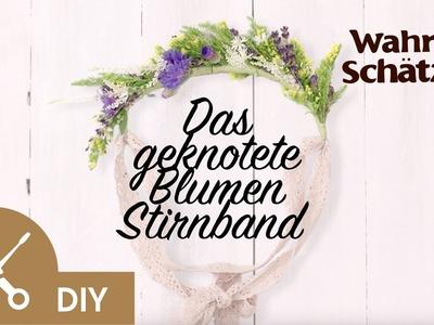 Blumenkranz selber machen Tutorial - Das Stirnband | Garnier