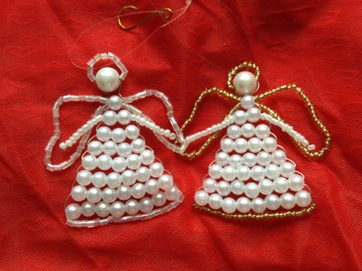 Engel aus grossen Perlen. Weihnachten. Anhänger