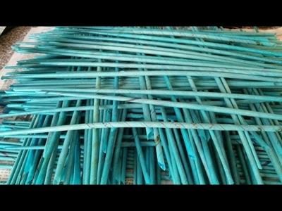 Röllchen aus Papier mit Krepp Papier Färben