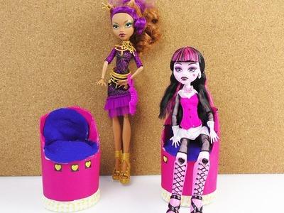 Sessel für Barbie und Monster High Puppen selber machen | Sessel aus Chipsdosen | Bauanleitung