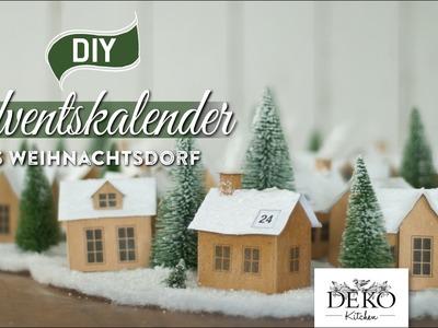 """DIY: Adventskalender """"Weihnachtsdorf aus Papier"""" selber machen [How to] Deko Kitchen"""