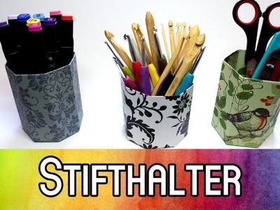 DIY Aufbewahrung 5min-Projekt: Stifthalter. Papierbecher (+kostenlose Vorlage) | kreativBUNT