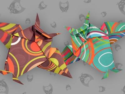 Origami Eule: Easy Owl - Faltanleitung (Live erklärt)