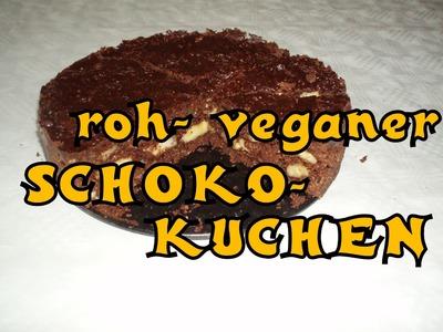 Vegane Rohkost: Schoko- Bananen- Kuchen *  einfach + lecker!