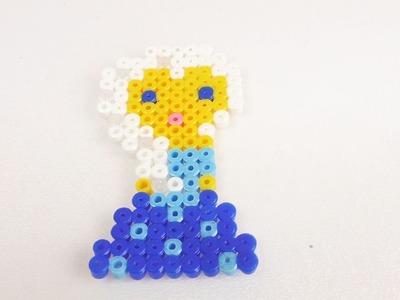 Disney Prinzessinnen Elsa die Eiskönigin Bügelperlen Bild | Frozen Königin aus Perlen