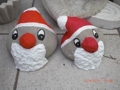 Beton giessen - DIY - Weihnachtsmann aus Beton und Damenstrümpfen
