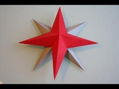 3D Stern basteln