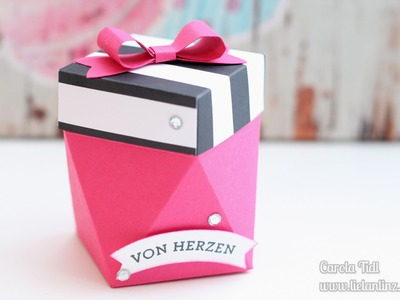 Anleitung: kleine Diamantbox erstellt mit dem Papierschneider | Stampin' Up!