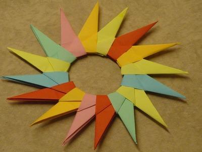 Basteln mit Papier ❁ Sterne falten ❁ Deko Ideen mit Flora-Shop