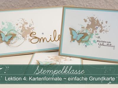 Stempelklasse #04 - Kartenformate - einfache Grundkarten - Stampin' Up!