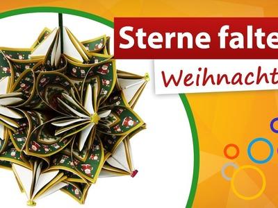 ★ Sterne falten Weihnachten ★ Sternendekoration fürs Fenster - trendmarkt24