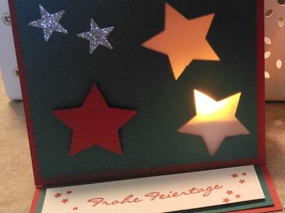 10 Wochen Weihnachten . 6# - Teelicht Easel Karte